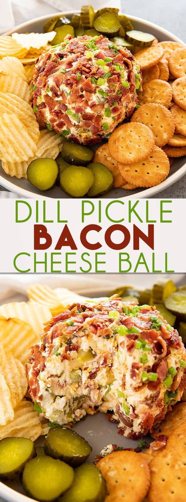 Dill Pickle Bacon Cheese Ball – The Salty Marshm…
