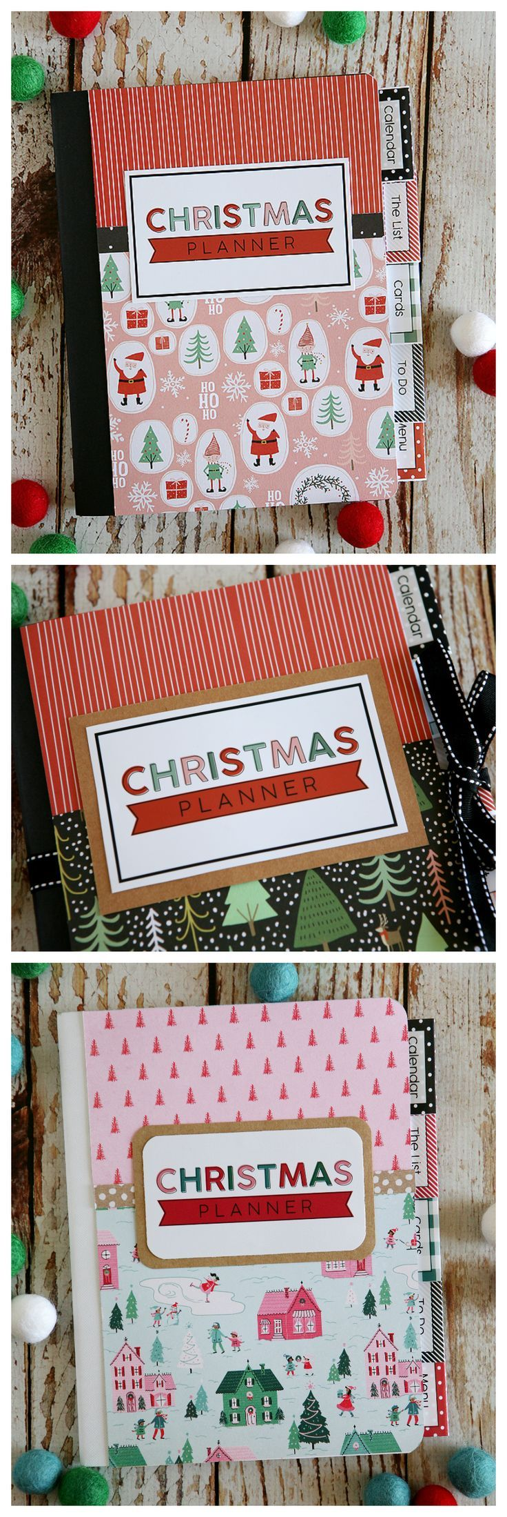Christmas Planners with Free Printables | Make a Christmas Planner for just a couple dollars!