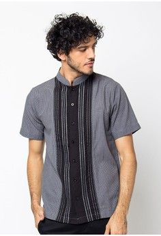 Pria > Baju Muslim > Baju Koko > Koko Kotak Kombinasi (Abu) > Al Mustika