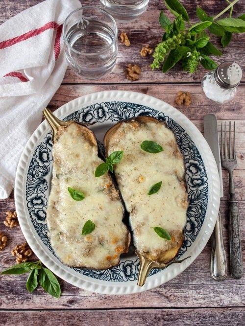 Diós-mozzarellás sült padlizsán recept