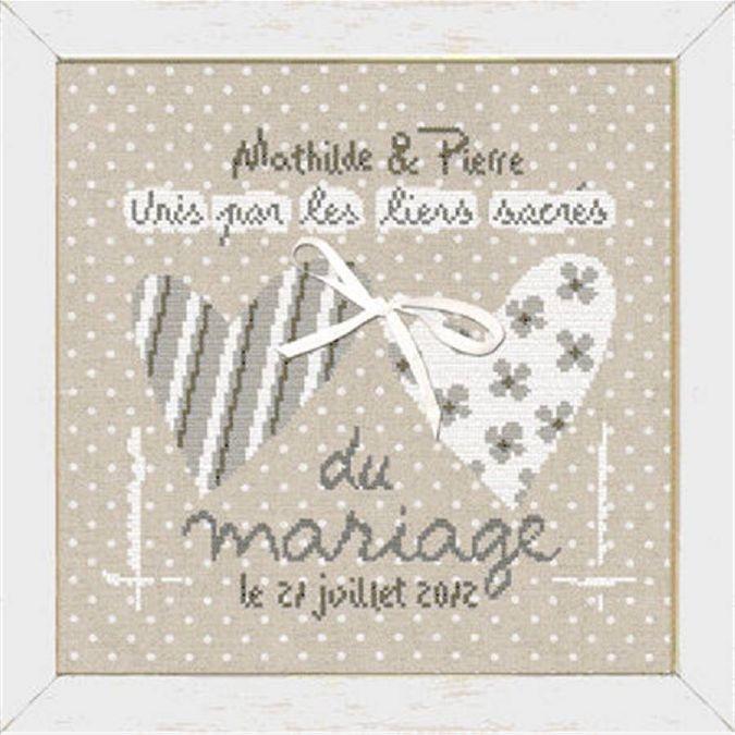 1000 id es sur le th me couronne de mariage en coeur sur pinterest d cors photo de mariage - Grille gratuite point de croix coussin de mariage ...