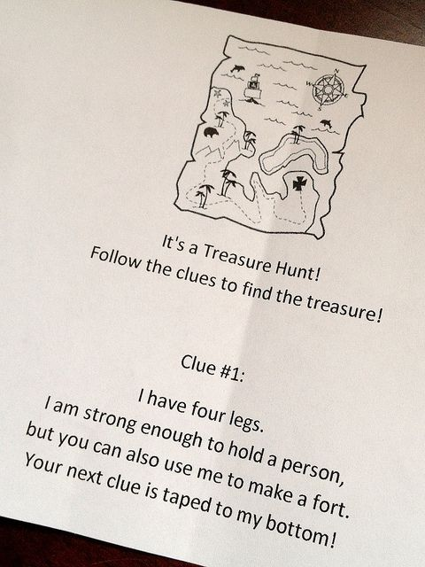 Treasure Hunt-indoors, for an ordinary day needing fun