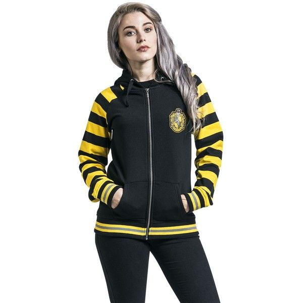 Hufflepuff ❤ liked on Polyvore featuring tops, hoodies, hooded sweatshirt, striped hooded sweatshirt, animal print hoodies, animal print hoodie and colorful hoodies