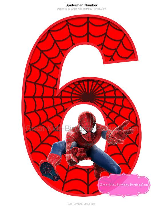 Spiderman Printable Number 6 Centerpiece - Instant Download ★★PLEASE READ BEFORE PURCHASE★★ -This listing is ONLY for the Spider-Man printable NUMBER 6 centerpiece (5 graphics) in a digital printable format. If you need a different number (we have numbers 1-10 in our shoppe)