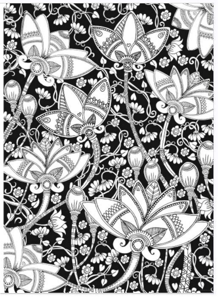 Amazon Creative Haven Midnight Garden Coloring Book Heart