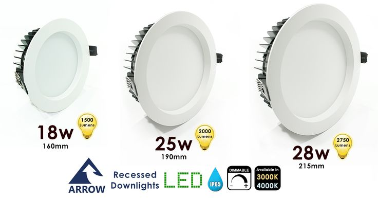 You know we can't resist giving you a bargain! That's why these Recessed Downlights are all at discount price while our stocks last! They're an ideal solution for Residential and commercial applications, Bathrooms, Hotels, Kitchens and Retail spaces.Only 60mm in depth making it a perfect solution for shallow ceiling voids. In Stock Ready to Dispatch. http://www.arrowelectricals.co.uk/search/arrow-led-recessed-downlights