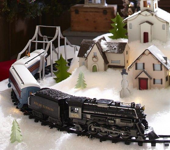 "Lionel Polar Express ""G Gauge"" Train Set | Pottery Barn Kids.  Love this display!!!"