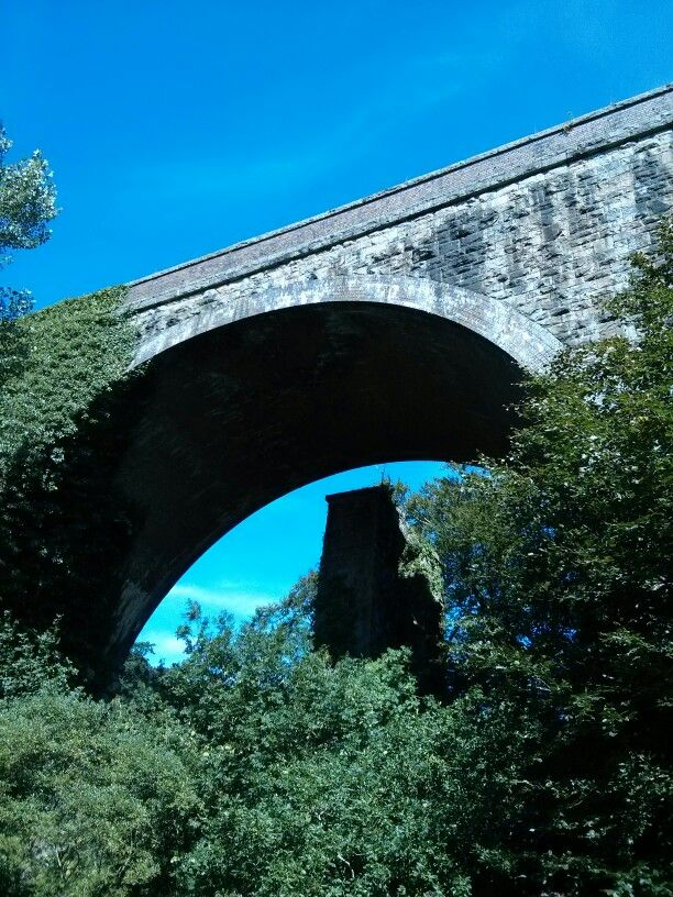 Underneath the viaduct in Ivybridge. Original Brunel column still in place next to current viaduct #southhams #ivybridge #architecture