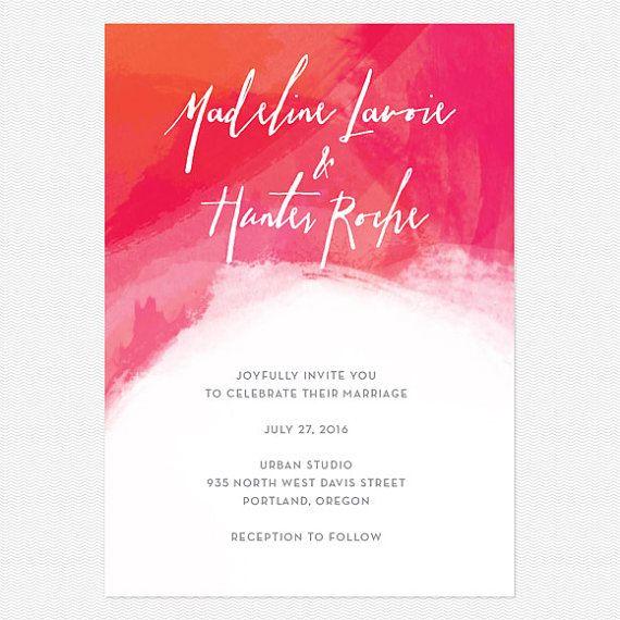Aquarell Hochzeit EinladungSampleSet hell Modern von lovevsdesign, $1.00