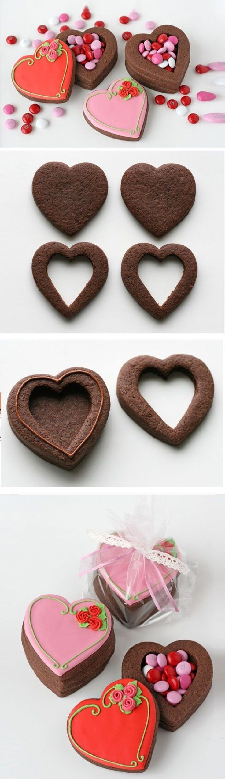 Cute Valentine's Heart Cookie Boxes - 15 Special Valentine's Day Party Ideas to Celebrate Love with Your Loved Ones