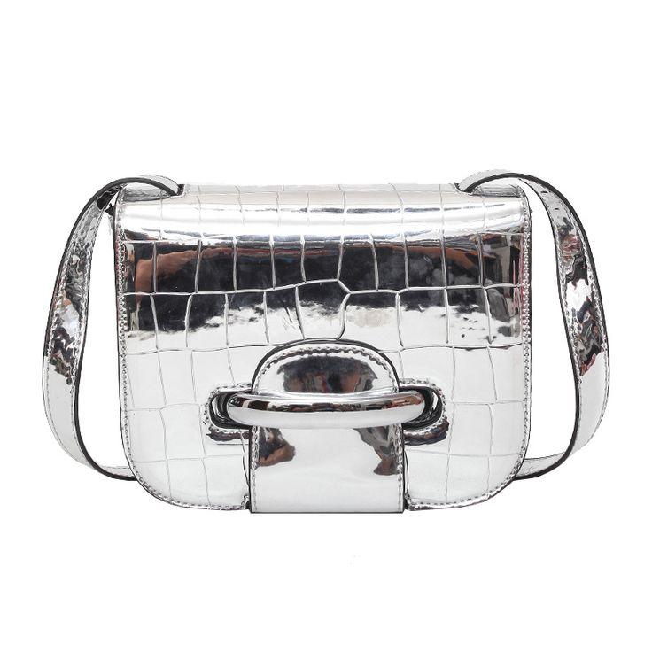 Женщины зеркало серебряный клатч сумочка женские Яркая сумка через плечо роскошные леди дизайнерские сумки серебряный портативный для вечеринки 2 размера купить на AliExpress