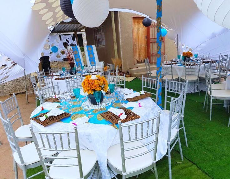 Yellow And Turquoise Wedding Cakes