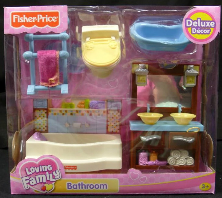 Fisher Price Loving Family Bathroom Dollhouse Furniture Set New In Toys Hobbies Pretend Play
