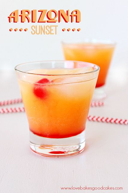 Arizona Sunset -  Don't let Summer slip by without a Phoenix Sunset Margarita! It's the perfect way to unwind at the end of the day! #margarita #drinksa  Fun non-alcoholic drink Too!!