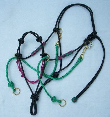 Y Knot Rope Tack--this is exactly what i've been trying to make utilizing the halters i already own.