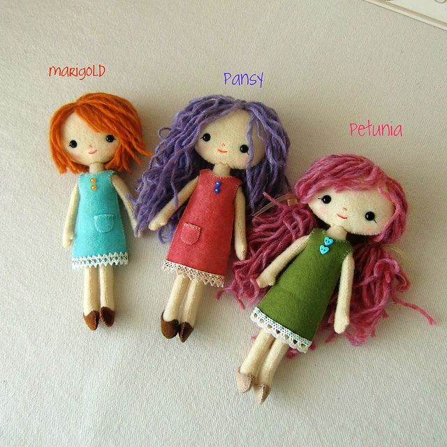 How cute are these! pocket pixies by Gingermelon, via Flickr