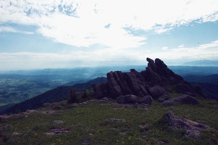 На вершине горы Синюха