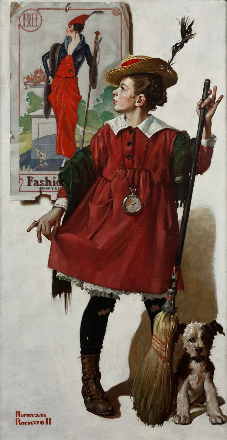 Norman Rockwell: The Little Model (1919).  This will forever be my favorite, since I grew up seeing the original at my grandparents' house!