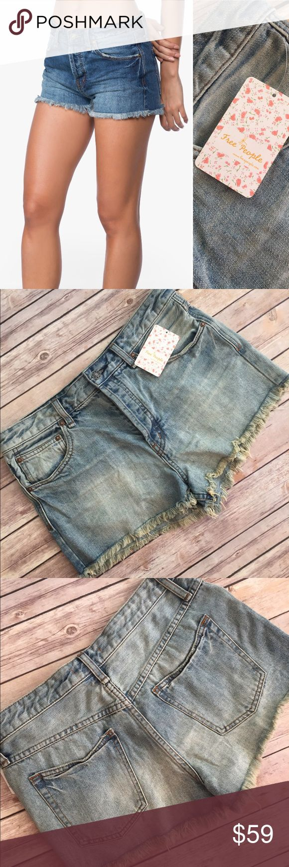 FREE PEOPLE Cutoff Jean Shorts Size 30 NWT FREE PEOPLE Cutoff Jean Shorts NWT. Size 30 waist. Closet staple, goes with everything!!!Retails for $69 Free People Shorts Jean Shorts