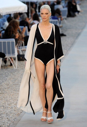 A Chanel swimsuit, perfect for a sunny summer day by the cascading pools in Capella #Luxury #Fashion #Capella #Summer #holiday #travel