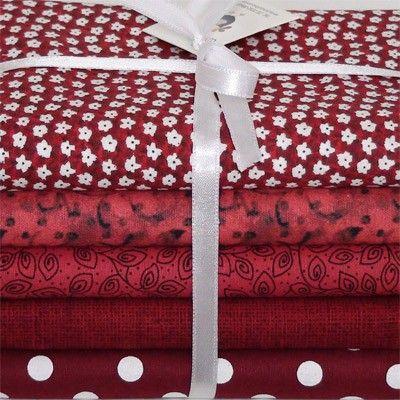 """Kit de tecidos """"Vermelho Escarlate"""""""