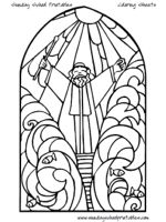 christion stain glass coloring pages | 70 best images about Children's Church on Pinterest ...