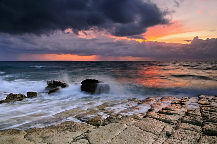 Riders on the Storm by Mary Kay. Gridia Beach, Hios Island, Greece