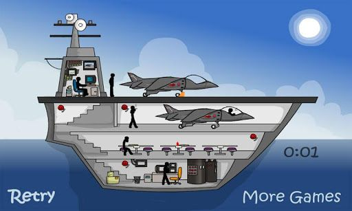 Best new version stickman clickdeath puzzle game.<br>This war is happend at aircraft carrier.kill all stickmen.<br>Silly stickmen cant properly fly planes,your task is help to destroy this aircraft carrier before they accidently launch a nuclear missile and blow up the world! Good luck! http://Mobogenie.com
