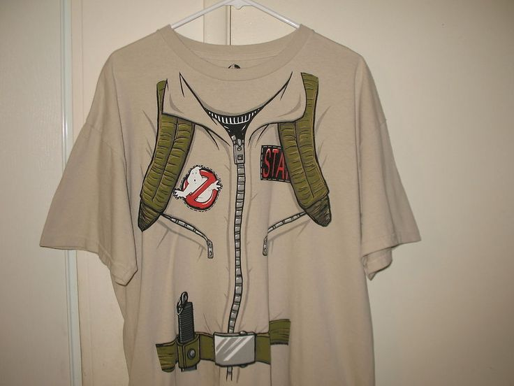 Ghostbusters Mens Biege Colored Ghostbusters Uniform Suit T-Shirt, XL #Ghostbusters #GraphicTee