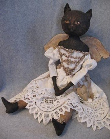Primitive Angel Cat Doll  PATTERN Annie Beez  PDF by anniebeez, $10.00