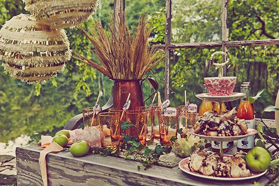 Blake Lively Documents Perfect Autumnal-Themed Baby Shower For Preserve #refinery29  http://www.refinery29.com/2014/10/76072/blake-lively-baby-shower-photo#slide6