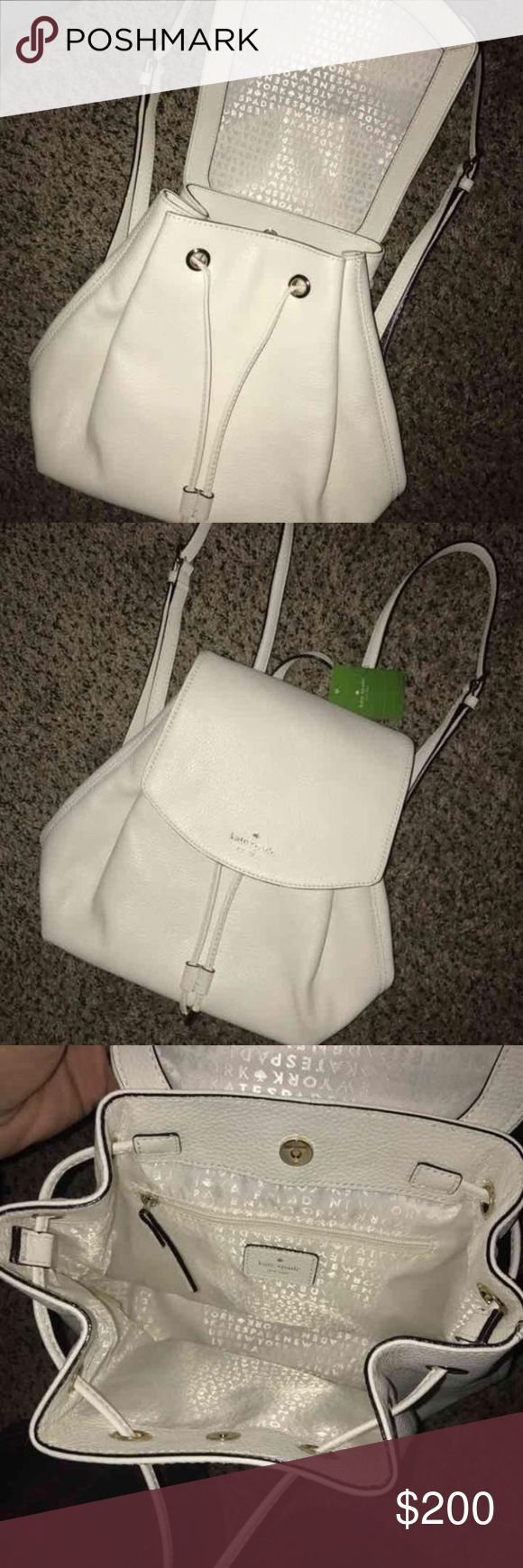 NWT Kate Spade Backpack ♠️ SALE UNTIL MIDNIGHT NWT. Purchased for $330 at the Kate Spade store. Small Breezy Mulberry Street. No trades or low offers pls! Lower on Ⓜ️ kate spade Bags Backpacks