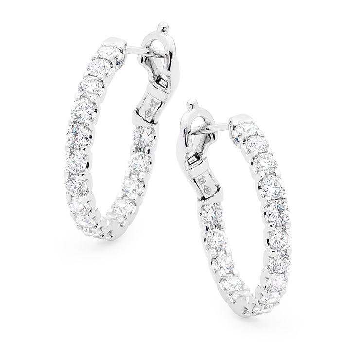 Diamond hoop earrings  #diamonds #diamondsinternational #diamondjewellery #earrings