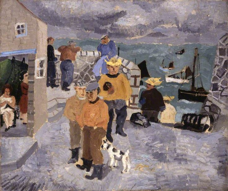 Cornish Fishermen, the Quay, St Ives, 1928 by Christopher Wood (English 1901 - 1930)