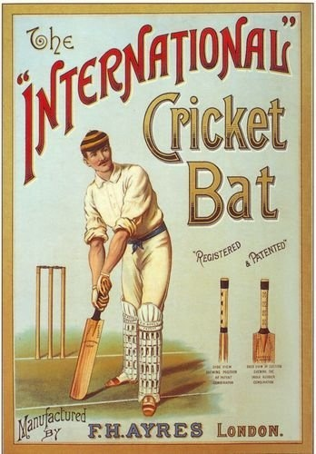 Edwardian Cricket Bat Advertisement Poster A3 Reprint by Vintage Poster Shop, http://www.amazon.co.uk/dp/B007E2O9O0/ref=cm_sw_r_pi_dp_Z.1Qrb1TYGRB3