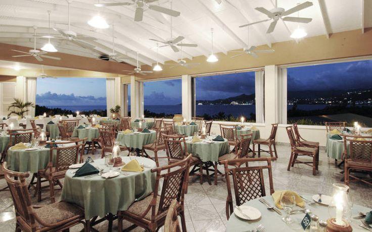 Breathtaking view from restaurant at the Flamboyant Hotel & Villas, GRENADA.