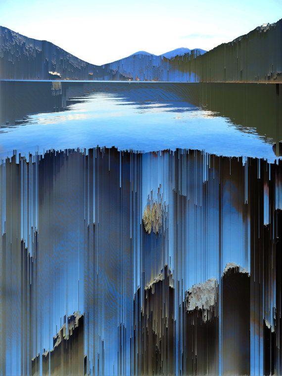Sonando pixel arte paisaje surrealista de clasificación por aeolia
