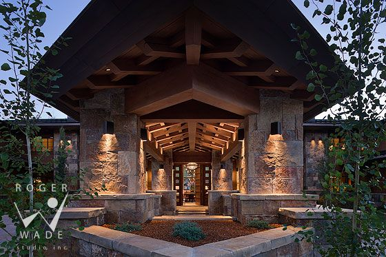 Roger wade studio architectural photography of modern for Porte cochere homes