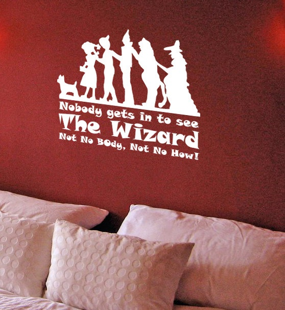 Wizard of Oz Theme Vinyl Wall Decal