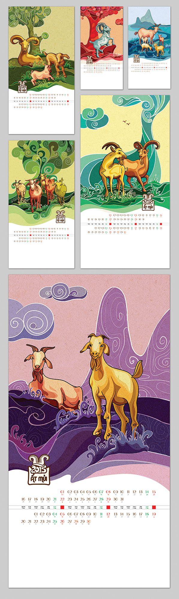 Calendar 2015   Goat by  xilyn tran
