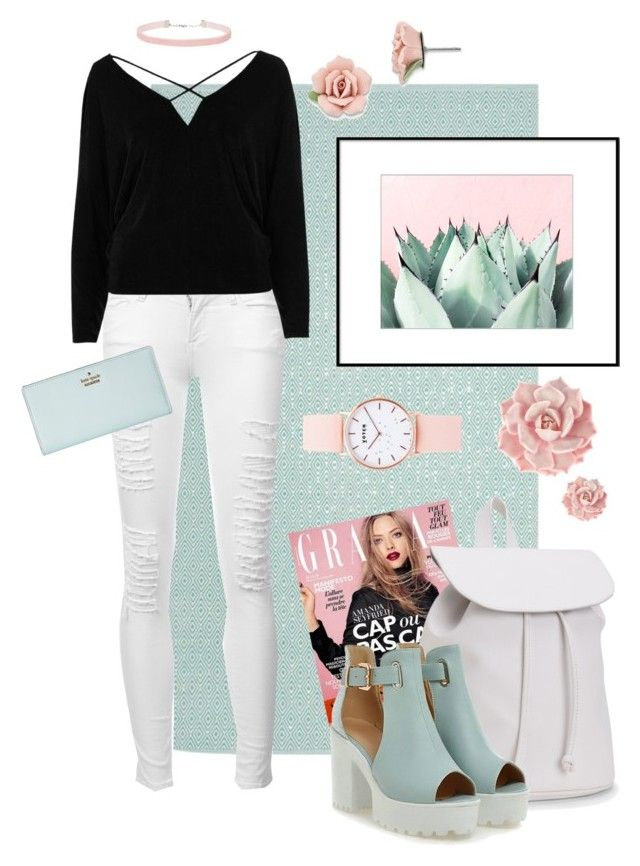 """Outfit #5"" by anakhai on Polyvore featuring Safavieh, Frame, River Island, Aéropostale, 1928, Kate Spade, Miss Selfridge and Votch"