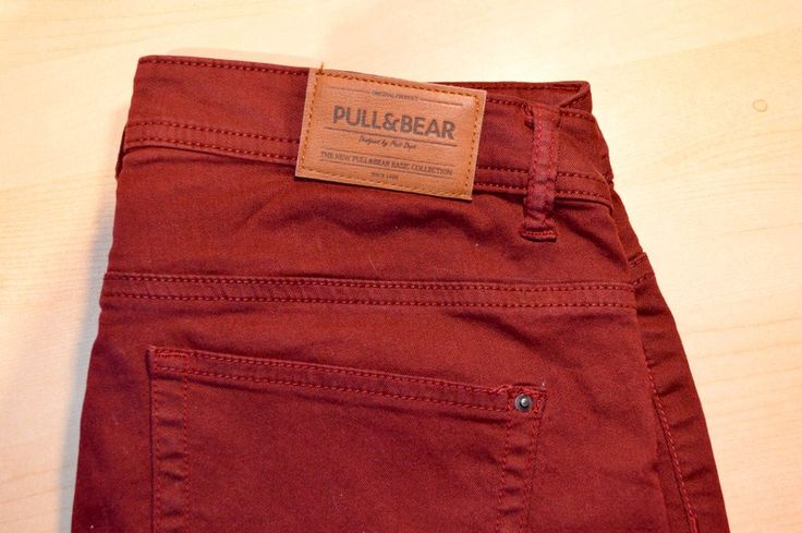 Jean taille basse bordeaux Pull and bear. de marque Pull&Bear. Taille 40 / 12 / L à 3.00 € : http://www.vinted.fr/mode-femmes/jeans/37492745-jean-taille-basse-bordeaux-pull-and-bear.