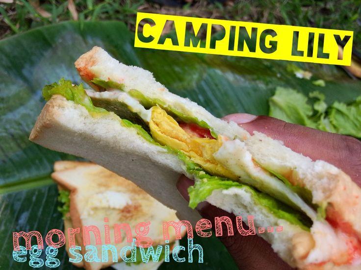 Camping Lily, July 2014 Breakfast menu