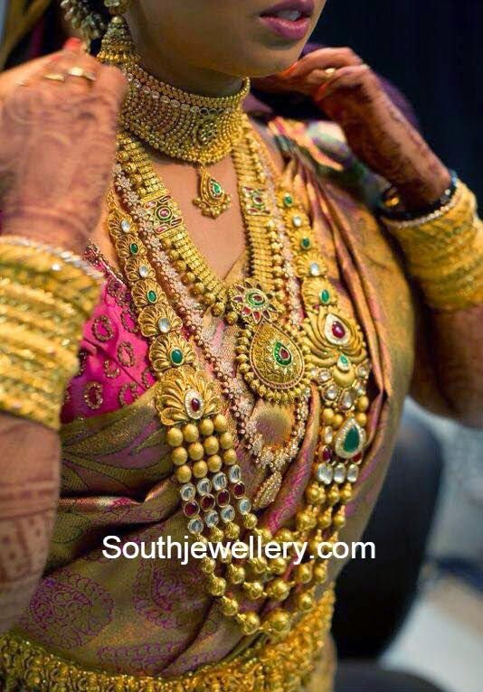 south indain bride antique jewellery