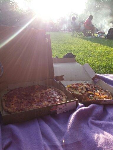 Pizza in het julianapark
