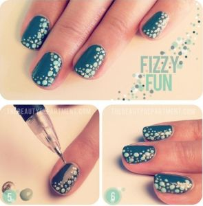 7 best nail art techniques images on pinterest appliques easy tiny dots on nail art prinsesfo Choice Image