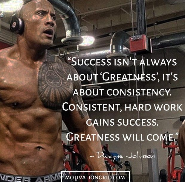Success consistency and hard work Dwayne Johnson Picture Quotes