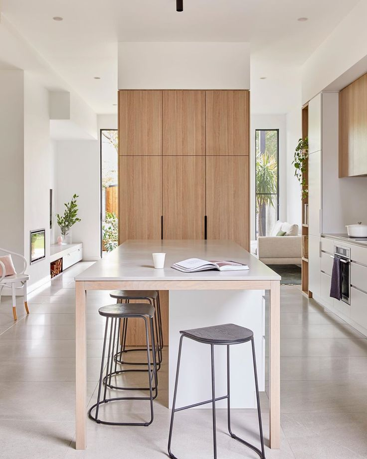 h e a r t l y on instagram the original 3 3 metre ceilings carry through to the extension at on t kitchen layout id=59158