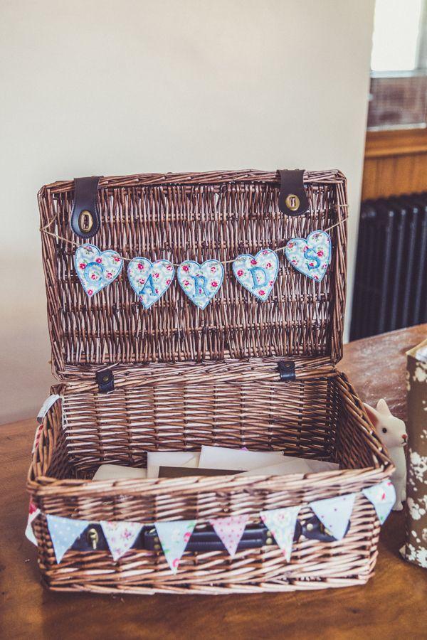 Card Basket Hamper Pink Blue Alice In Wonderland Wedding