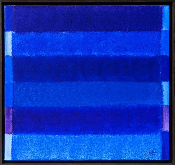 Heinz Mack, (Lollar, 1931), Senza titolo / Ohne Titel, 2014, Acrilico su tela / Akryl auf Leinwand, 85 x 90 cm